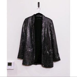 Zara silver shimmery blazer and matching pants -SM
